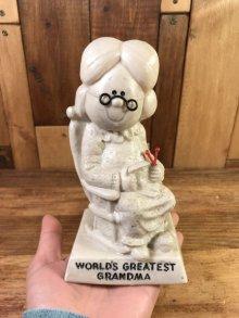 """他の写真3: Sillisculpts """"World's Greatest Grandma"""" Message Doll シリスカルプス ビンテージ メッセージドール 70年代"""