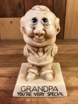 "Sillisculpts ""Grandpa You're Very Special"" Message Doll シリスカルプス ビンテージ メッセージドール 70年代"