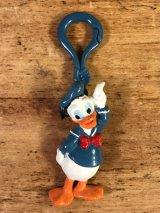 Disney Donald Duck Rubber Keychain ドナルドダック ビンテージ キーホルダー ディズニー 80年代