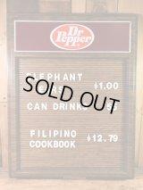 Dr Pepper Wall Menu Sign Board ドクターペッパー ビンテージ メニューボード 看板 70年代