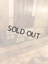 Old Bank Mall Ice Creme Parlour And Shoppes Wood Sign 店頭用ディスプレイ ビンテージ 木製看板 アイスクリーム屋 60〜70年代