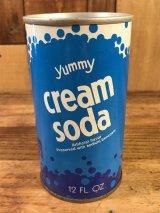 Yummy Cream Soda Drink Can クリームソーダ ビンテージ スチール缶 60〜70年代
