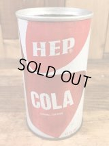 Hep Cola Drink Can ヘップコーラ ビンテージ スチール缶 ソーダ缶 70年代