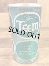 Teem A Lemon Lime Soda Drink Can レモンライムソーダ ビンテージ スチール缶 ティーム 60〜70年代