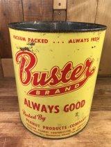 Peanut Products Buster Brand Tin Can バスターブランド ビンテージ ブリキ缶 ピーナッツ 50年代〜