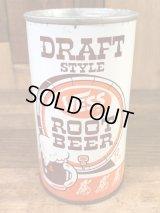 Draft Style Vess Root Beer Drink Can ルートビア ビンテージ スチール缶 べス 60〜70年代