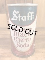Staff Imitation Black Cherry Soda Drink Can ブラックチェリーソーダ ビンテージ スチール缶 スタッフ 60〜70年代