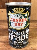 Canada Dry Concord Grape Soda Drink Can コンコードグレープソーダ ビンテージ スチール缶 カナダドライ 60〜70年代