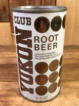 Yukon Club Root Beer Drink Can ルートビア ビンテージ スチール缶 ユーコンクラブ 60〜70年代