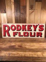 Rodkey's Flour Advertising Tin Sign 企業物 ビンテージ 看板 アドバタイジング 30〜40年代