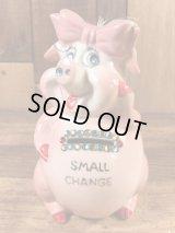 "Kreiss ""Small Change"" Pig Ceramic Coin Bank クレイス ビンテージ コインバンク ブタ 60年代"