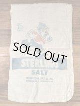 "International Salt ""Sterling Salt"" Bag 企業物 ビンテージ ソルトバッグ 袋 40年代〜"