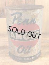 Penn Amoco Oil Tin Can アモコ ビンテージ オイル缶 ブリキ缶 50年代