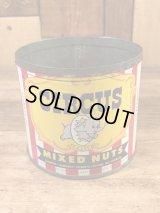 Circus Mixed Nuts Tin Can サーカス ビンテージ ブリキ缶 ミックスナッツ 40〜50年代