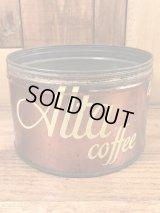 Alta Coffee Tin Can アルタコーヒー ビンテージ ブリキ缶 コーヒー缶 50年代