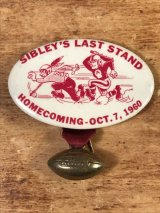 Sibley's Last Stand Homecoming College Pin Back カレッジ ビンテージ 缶バッジ フットボール 60年代