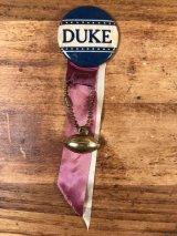 """""""Duke"""" Foot Ball College Pin Back カレッジ ビンテージ 缶バッジ フットボール 50〜60年代"""