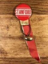 """Stanford"" Foot Ball College Pin Back カレッジ ビンテージ 缶バッジ フットボール 50〜60年代"