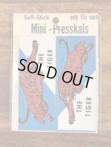 "Impko Self Stick ""The Tiger"" Mini Presskals Sticker タイガー ビンテージ ステッカー デカール 60年代"