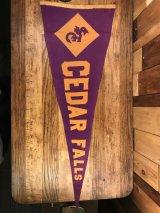 """Cedar Falls"" University Felt Pennant シーダーフォールズ ビンテージ ペナント ユニバーシティ フェルト 30〜40年代"