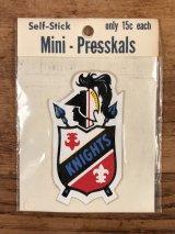 """Impko Self Stick """"Knights"""" Mini Presskals Sticker ナイト ビンテージ ステッカー デカール 60年代"""