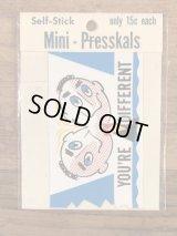 "Impko Self Stick ""You're Different"" Mini Presskals Sticker メッセージ ビンテージ ステッカー デカール 60年代"