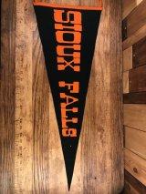 """Sioux Falls"" University Felt Pennant スーフォールズ ビンテージ ペナント ユニバーシティ フェルト 30〜40年代"
