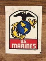 """Baxter Lane """"U.S.Marines"""" Water Slide Decal USマリーンズ ビンテージ 水張りステッカー ウォータースライドデカール 60年代"""