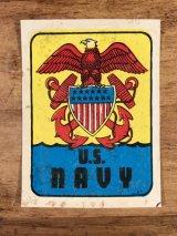 "Baxter Lane ""U.S.Navy"" Water Slide Decal USネイビー ビンテージ 水張りステッカー ウォータースライドデカール 60年代"