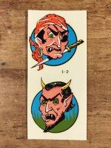 "Impko ""Pirate & Devil"" Water Slide Decal パイレーツ&デビル ビンテージ 水張りステッカー ウォータースライドデカール 60年代"