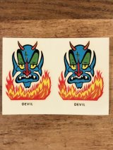 """Impko """"Devil"""" Water Slide Decal デビル ビンテージ 水張りステッカー ウォータースライドデカール 60年代"""