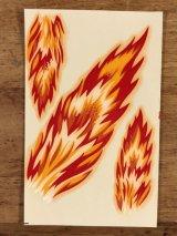 "Impko ""Fire"" Water Slide Decal ファイヤー ビンテージ 水張りステッカー ウォータースライドデカール 60年代"
