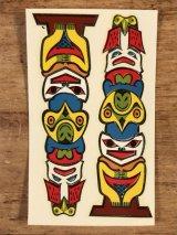 """Impko """"Totem Pole"""" Water Slide Decal トーテムポール ビンテージ 水張りステッカー ウォータースライドデカール 60年代"""