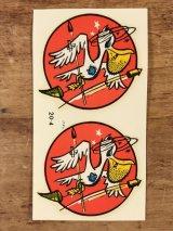 "Impko ""Pelican"" Water Slide Decal ペリカン ビンテージ 水張りステッカー ウォータースライドデカール 60年代"
