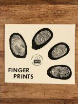 """Impko """"Finger Prints"""" Water Slide Decal 指紋 ビンテージ 水張りステッカー ウォータースライドデカール 60年代"""