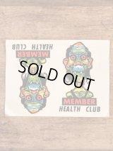 "Impko ""Member Health Club"" Water Slide Decal メンバーヘルスクラブ ビンテージ 水張りステッカー ウォータースライドデカール 60年代"