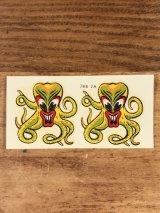 "Impko ""Octopus"" Water Slide Decal オクトパス ビンテージ 水張りステッカー ウォータースライドデカール 60年代"