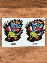 "Impko ""Bird"" Water Slide Decal バード ビンテージ 水張りステッカー ウォータースライドデカール 60年代"