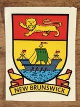"Impko ""New Brunswick"" Water Slide Decal ニューブラウンズウィック ビンテージ 水張りステッカー ウォータースライドデカール 60年代"