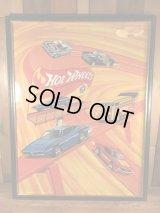 Mattel Hot Wheels Redline Minicar Picture Frame Poster ホットウィール ビンテージ ポスター レッドライン 60〜70年代