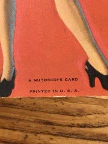 """他の写真2: Pin Up Girl """"I Must Learn Where To Draw The Line"""" A Mutoscope Card ピンナップガール ビンテージ カード 40年代"""