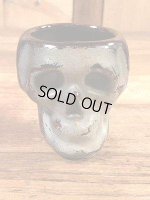スカルの陶器製の50年代ビンテージショットグラス