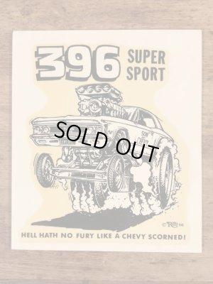 ビッグダディーエドロスの396スーパースポーツの60年代ビンテージ水張りステッカー