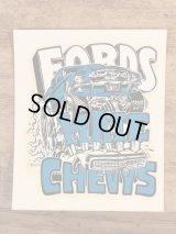 "Ed ""Big Daddy"" Roth ""Fords Hate Chevys"" Water Slide Decal エドロス ビンテージ 水張りステッカー ウォータースライドデカール 60年代"