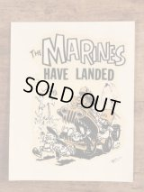 "Ed ""Big Daddy"" Roth ""The Marines Have Landed"" Water Slide Decal エドロス ビンテージ 水張りステッカー ウォータースライドデカール 60年代"