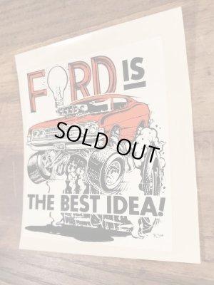 "Ed ""Big Daddy"" RothのFord Is The Best Idea!の60'sヴィンテージウォータースライドデカール"