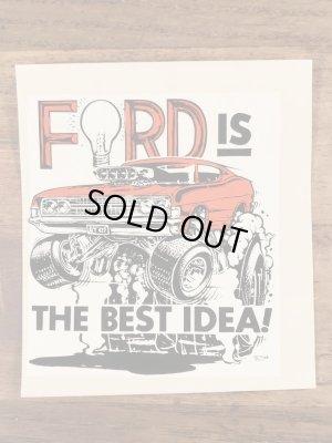 ビッグダディーエドロスのフォードの60年代ビンテージ水張りステッカー