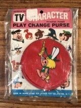 """Hanna Barbera """"Ricochet Rabbit"""" Play Change Purse リコシェットラビット ビンテージ 小銭入れ ハンナバーベラ 60年代"""