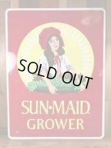 Sun Maid Grower Metal Sign サンメイド ビンテージ 看板 ストアサイン 80年代