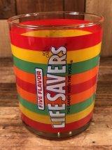 "Five Flavor Roll Candy ""Life Savers"" Glass ライフセーバー ビンテージ グラス 70年代〜"